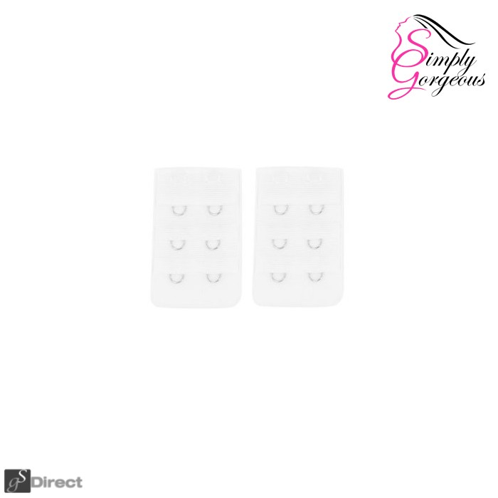 Pack Of 3 Bra Extenders - White (2 Hook)