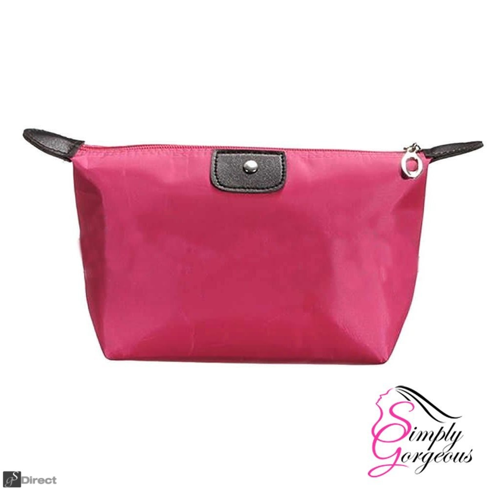 Waterproof Cosmetic Makeup Bag - Fuchsia Pink