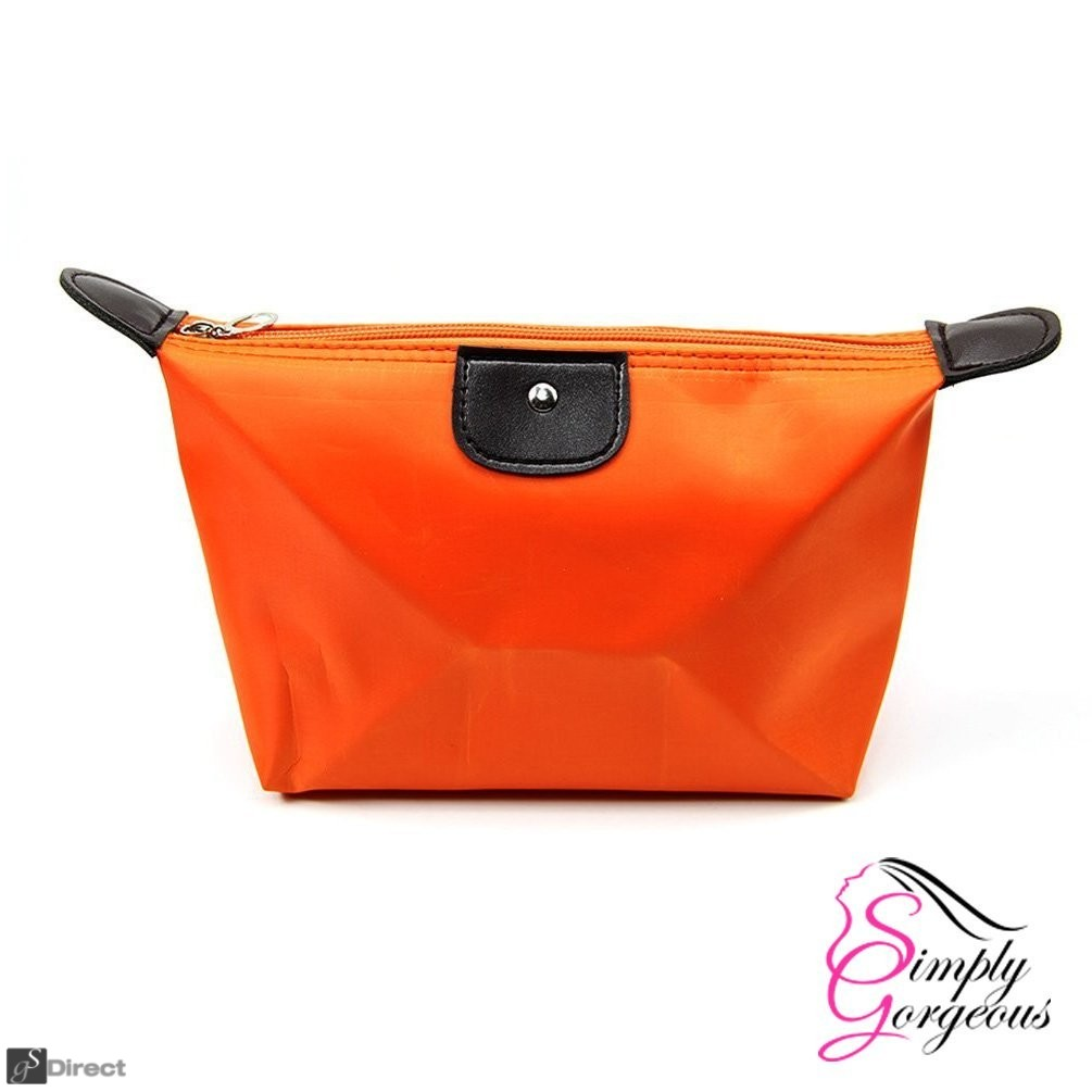 Waterproof Cosmetic Makeup Bag - Orange