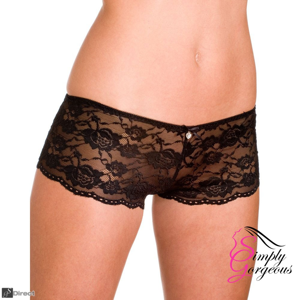 Ladies French Knickers – Black Size Medium  10-12