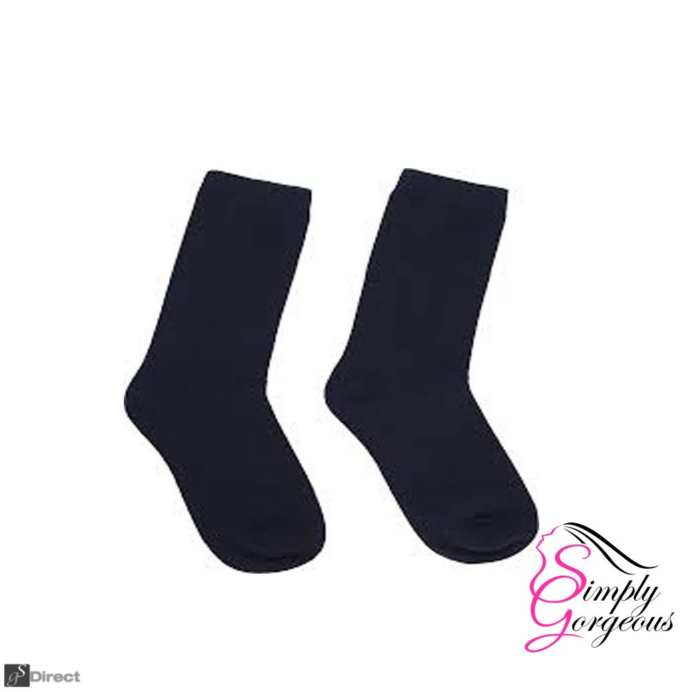 3 Pack Mens Plain Light Weight  Thin Cotton Blend Socks - Black