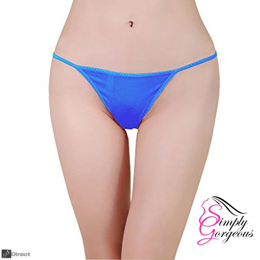 3 Pack Blue Sexy Ladies G-String Thongs - One Size