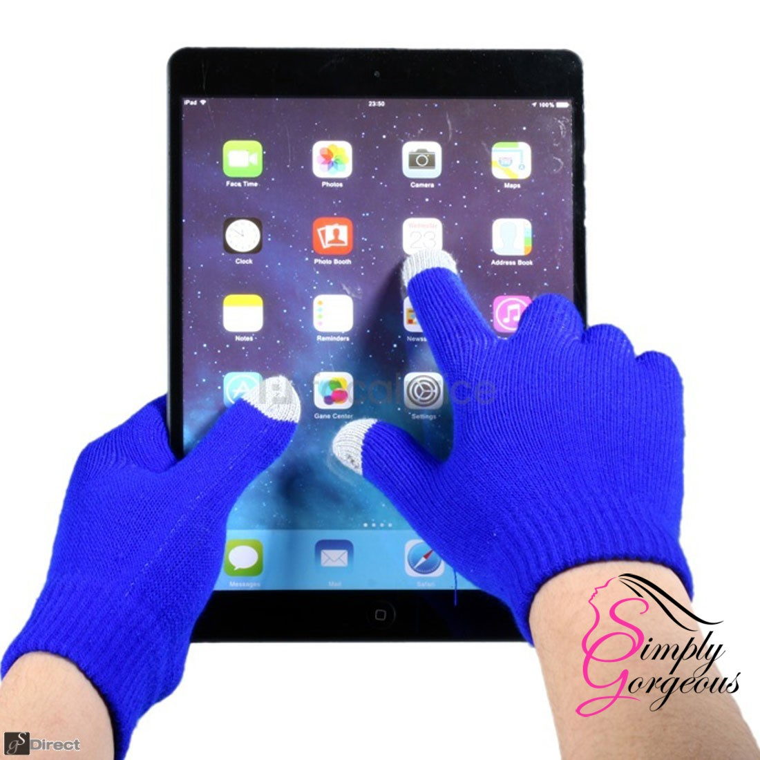 Unisex Winter Touch Screen Gloves For iPhone iPad Smart Phones, Tablets Etc - Dark Blue