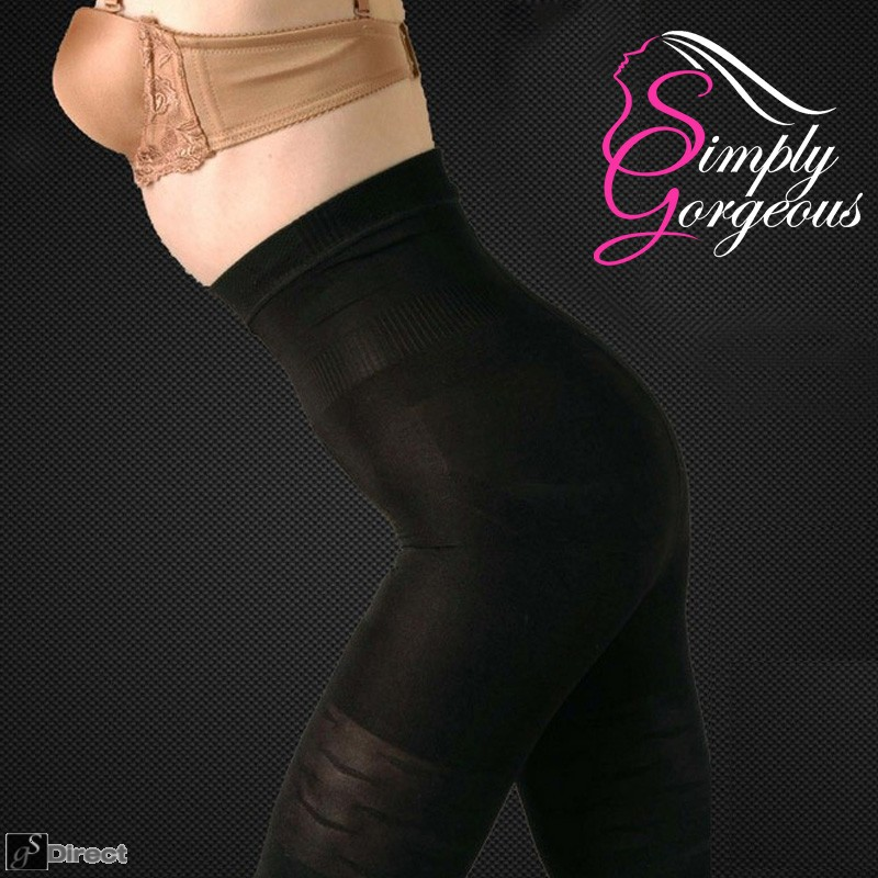 Black Tummy & Thigh Slimming Body Shaper - Size Large (UK  Size 12)