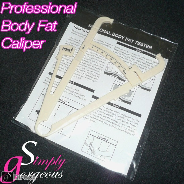 BODY FAT CALIPERS WITH MANUAL & CHARTS