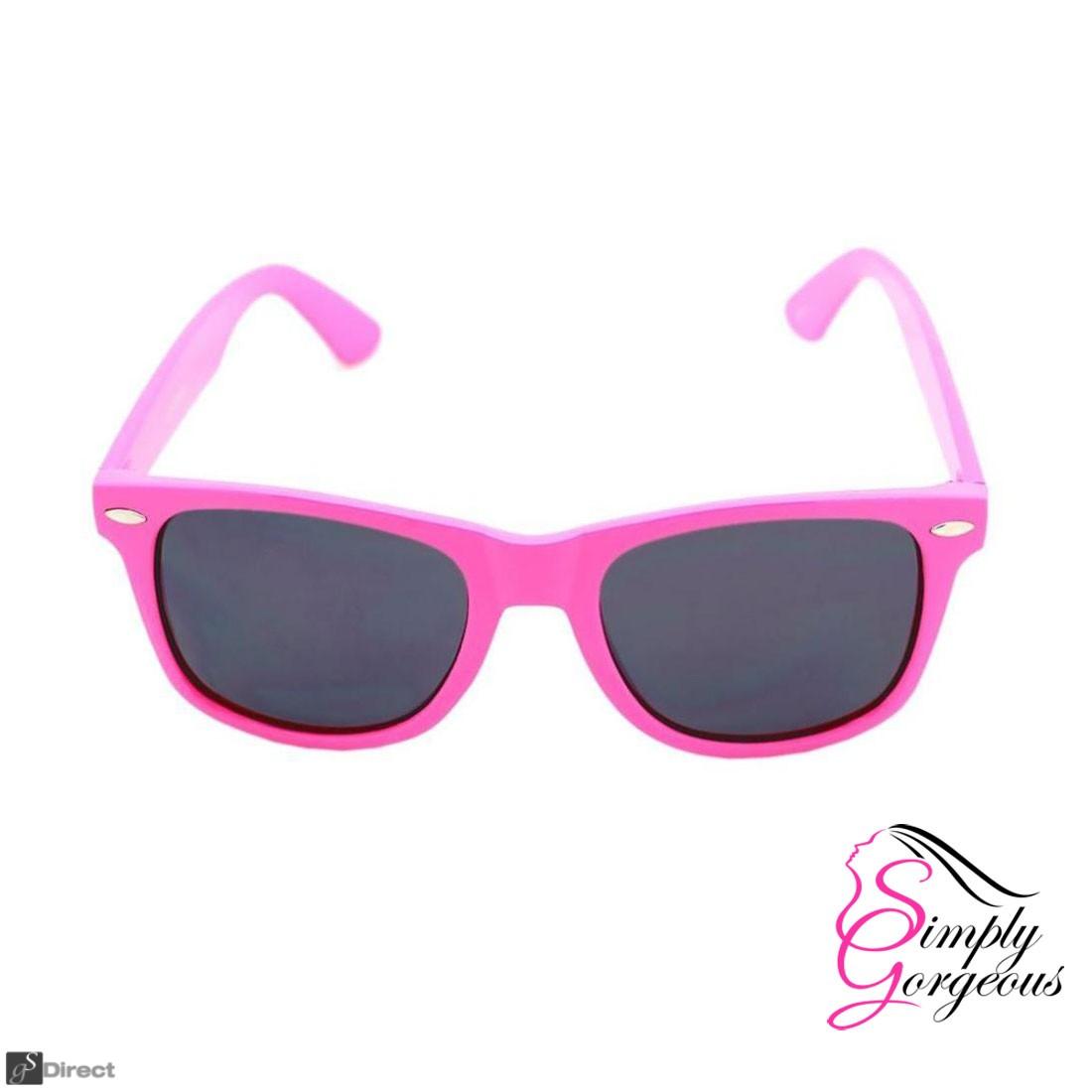 Wayfarer Aviator Style Sunglasses Retro Fashion Shades UV400 - Dark Pink