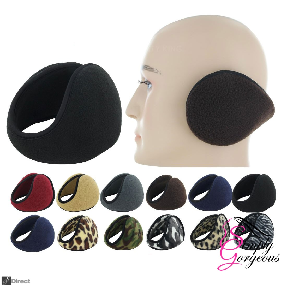 Earmuffs Winter Fleece Head Band Ear Muff Soft Warmers