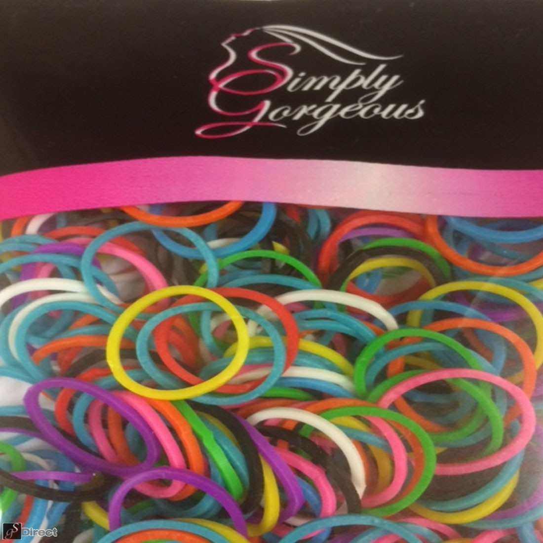 500 X Small Elastic Hair Bands Braids Poly Rubber Plaits Braiding - Mixed Colours