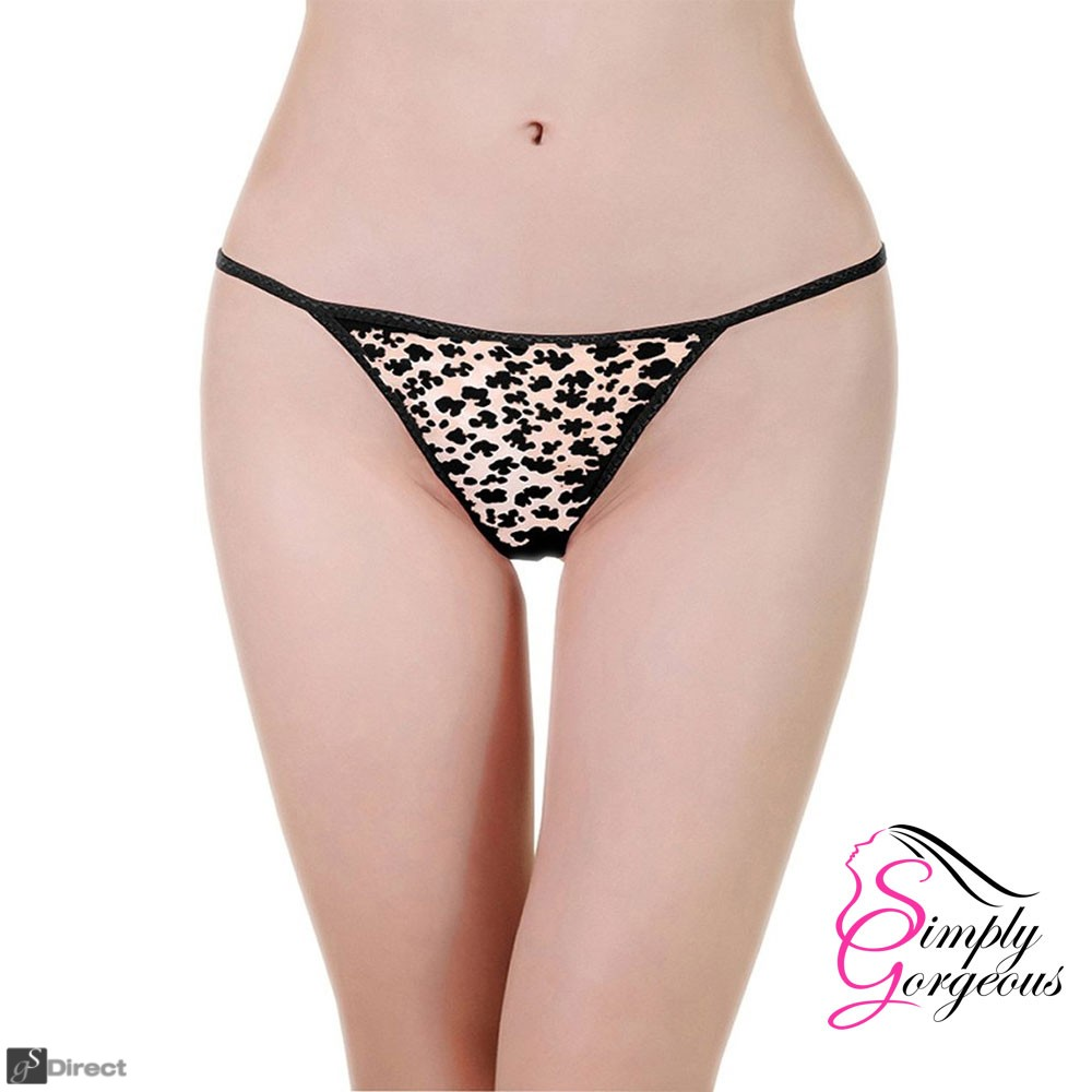 3 Pack Leopard Sexy Ladies G-String Thongs - One Size