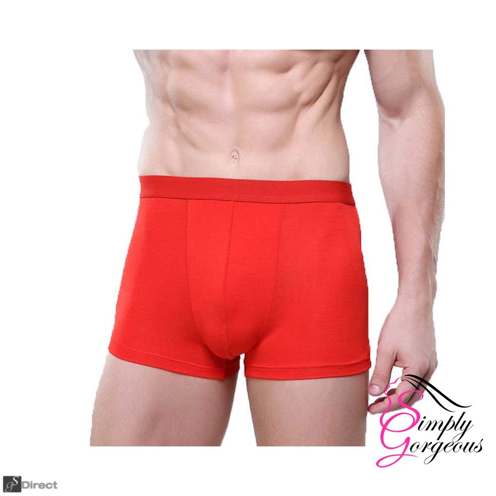 3 Pack Mens Large  Premium Quality Seamless Boxer Shorts - Red