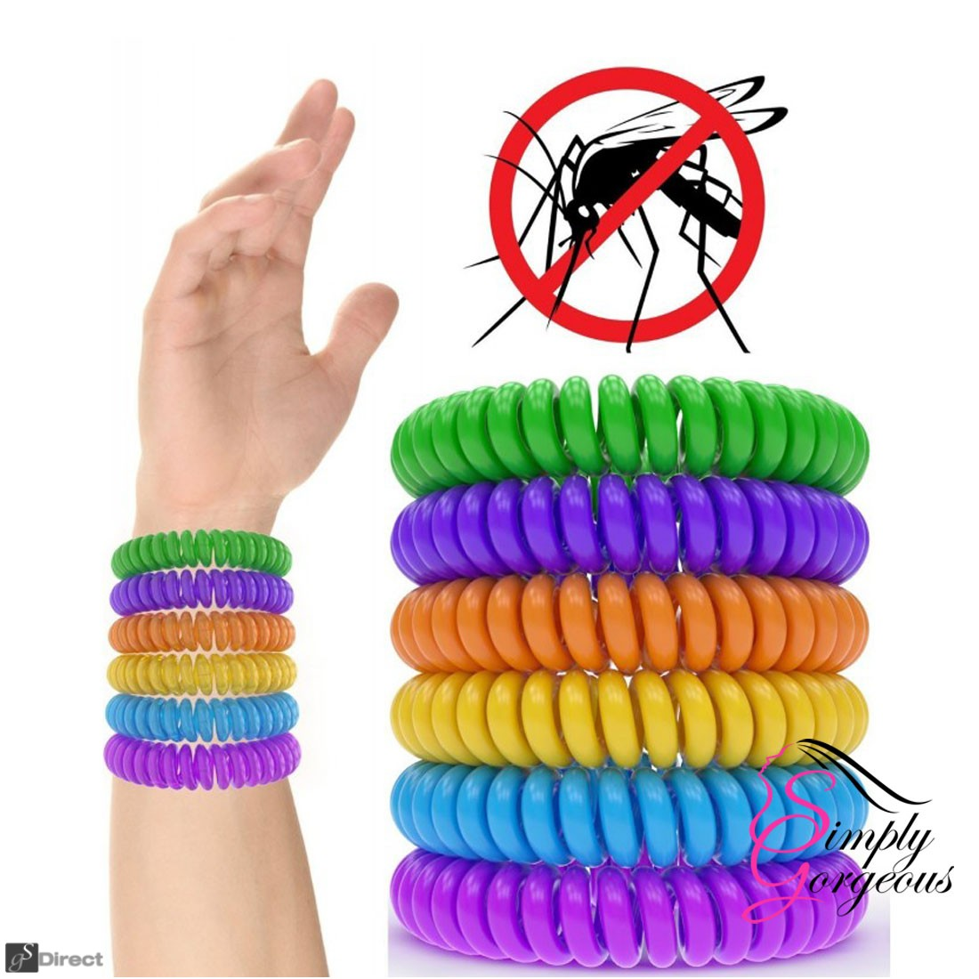 Mosquito Repellent Bracelets Natural Waterproof Spiral Wrist Band