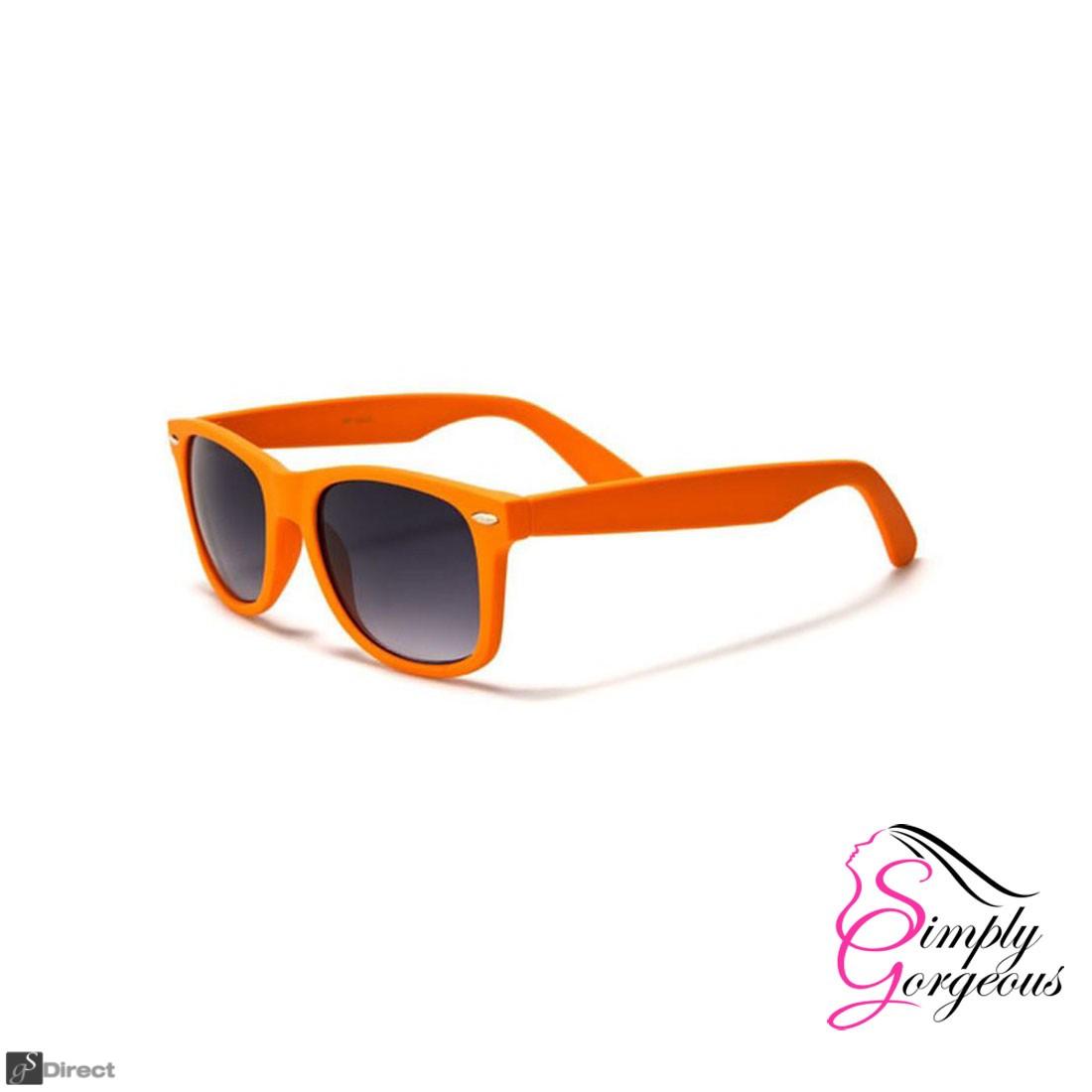 Wayfarer Aviator Style Sunglasses Retro Fashion Shades UV400 - Orange