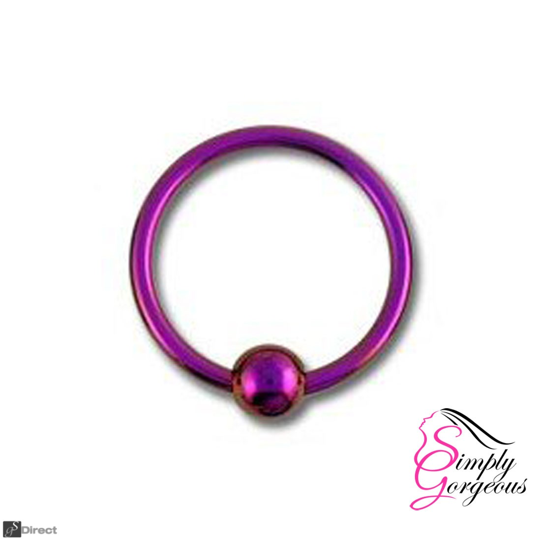 Surgical Steel Hoop Ring Piercing Ball Closure Lip Ear Nose Eyebrow - Pink