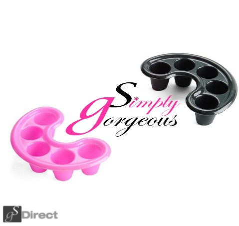 Simply Gorgeous Curved Nail Soak Off Tray - Black