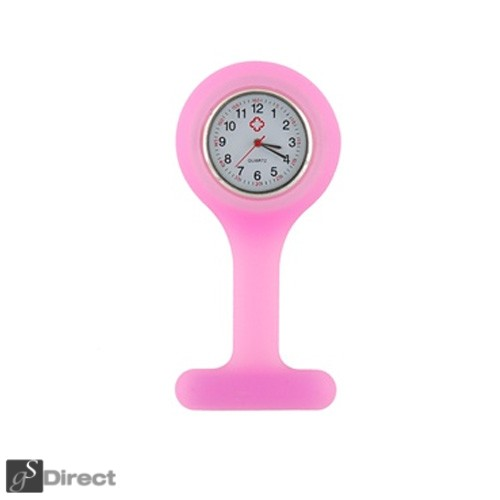 Silicone Fob Watch - Baby Pink