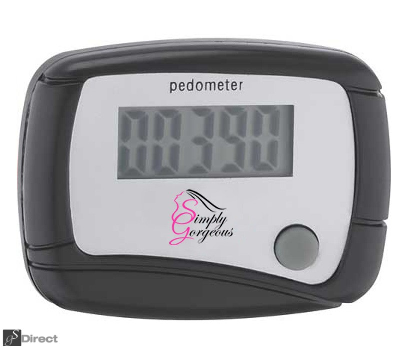 DIGITAL LCD PEDOMETER - BLACK
