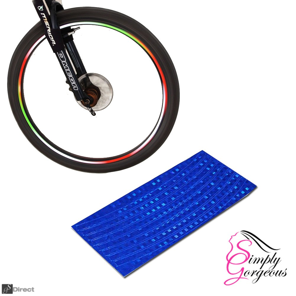 Wheel Stickers Reflective Tape - Blue