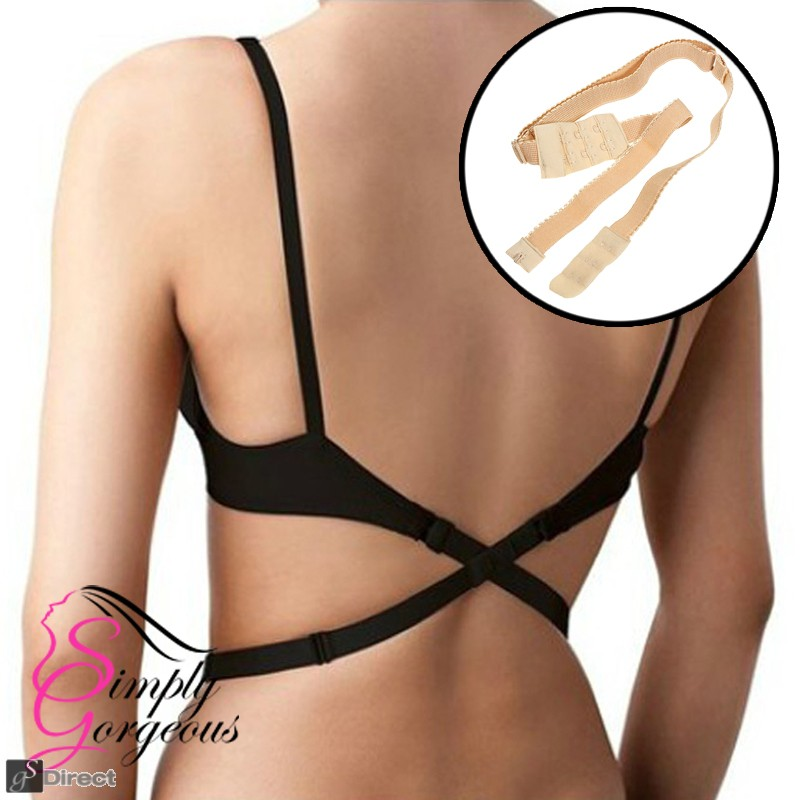 Simply Gorgeous Backless Low Back Bra Strap Converter - Beige