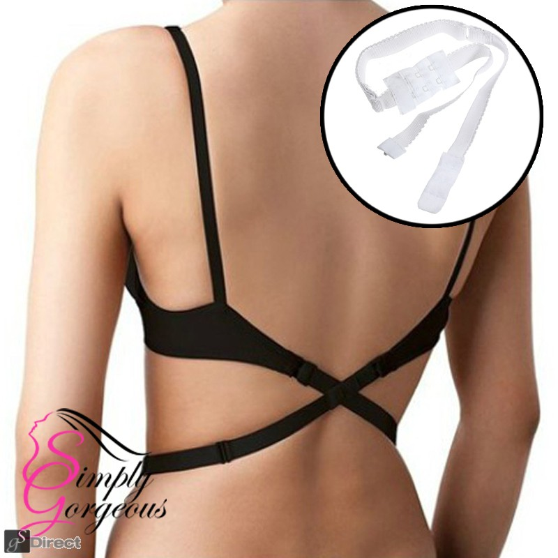 Simply Gorgeous Backless Low Back Bra Strap Converter - White
