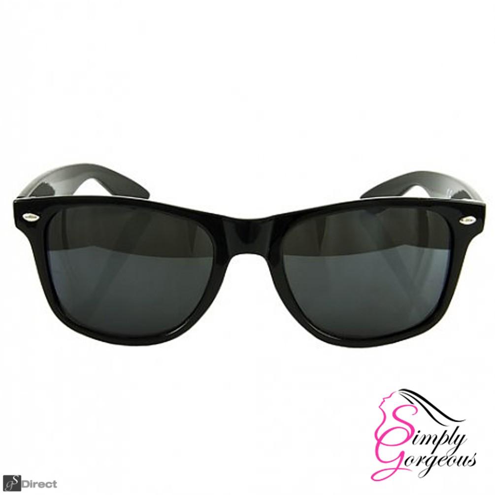 Classic Vintage Retro Aviator Sunglasses - Black