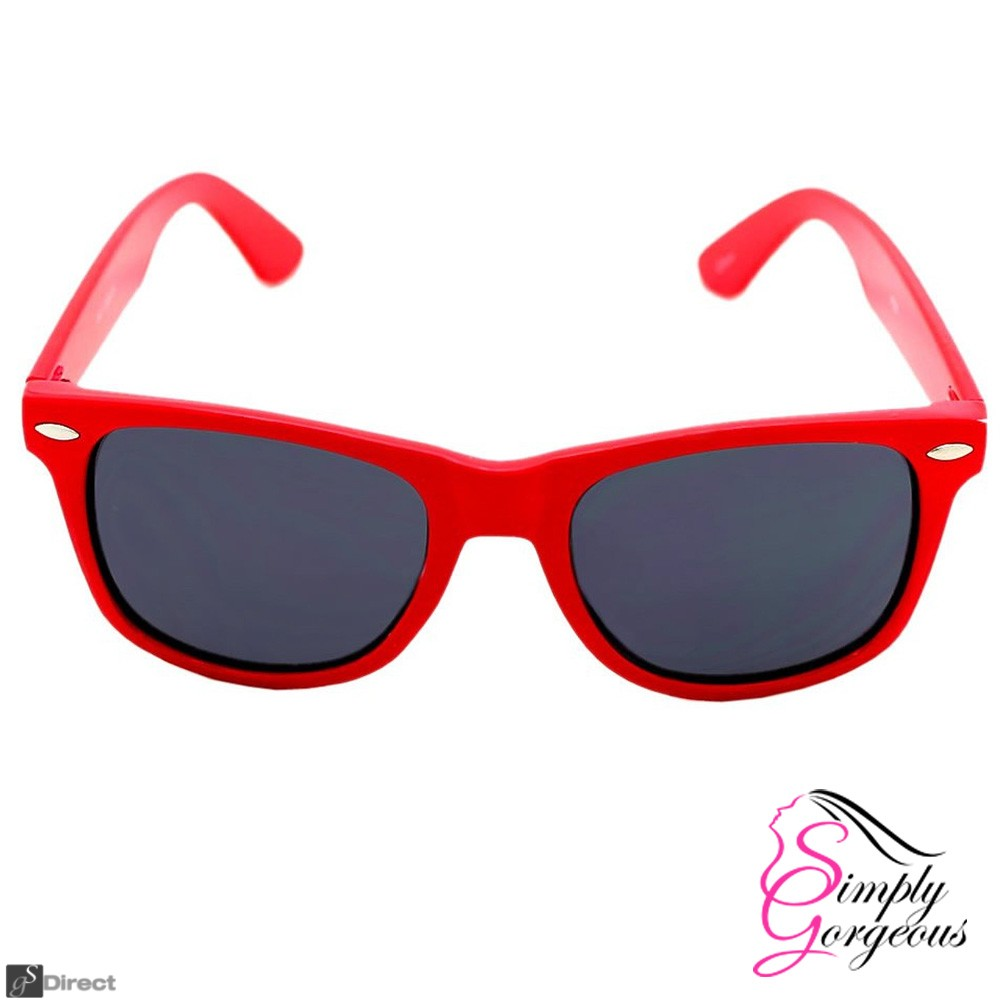 Classic Vintage Retro Aviator Sunglasses - Red