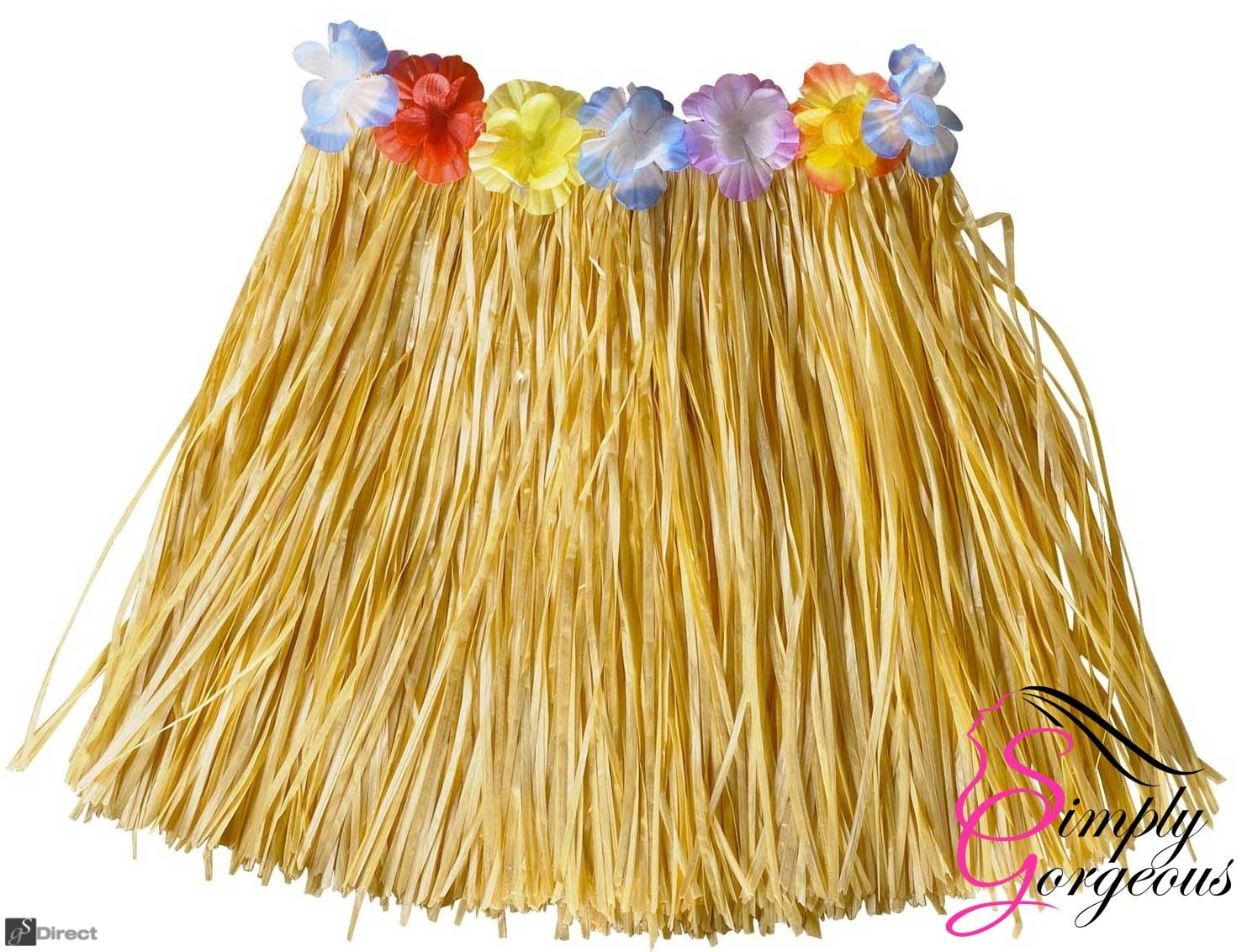 Hawaiian Hula Grass Skirt - Natural