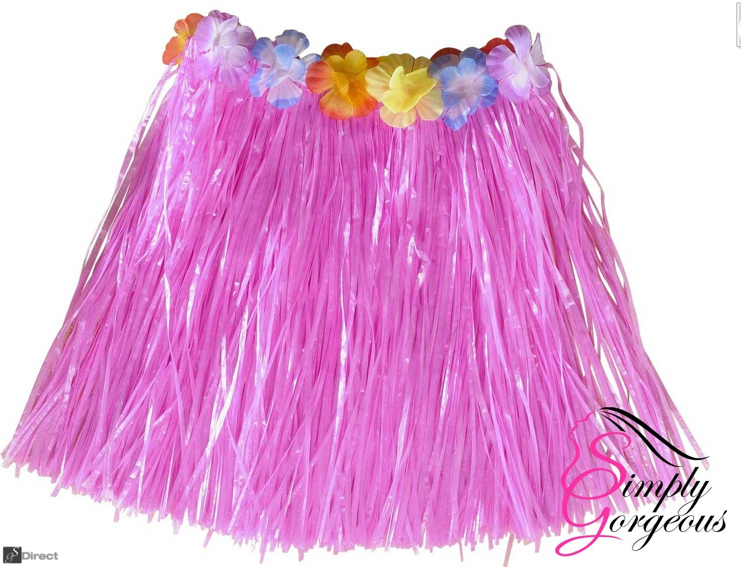 Hawaiian Hula Grass Skirt - Pink