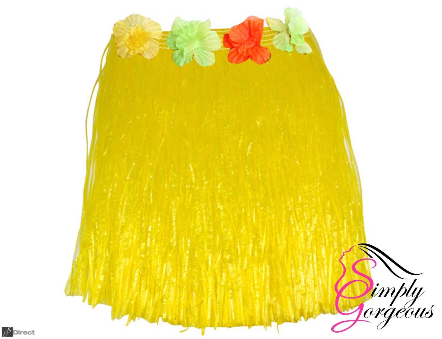 Hawaiian Hula Grass Skirt - Yellow