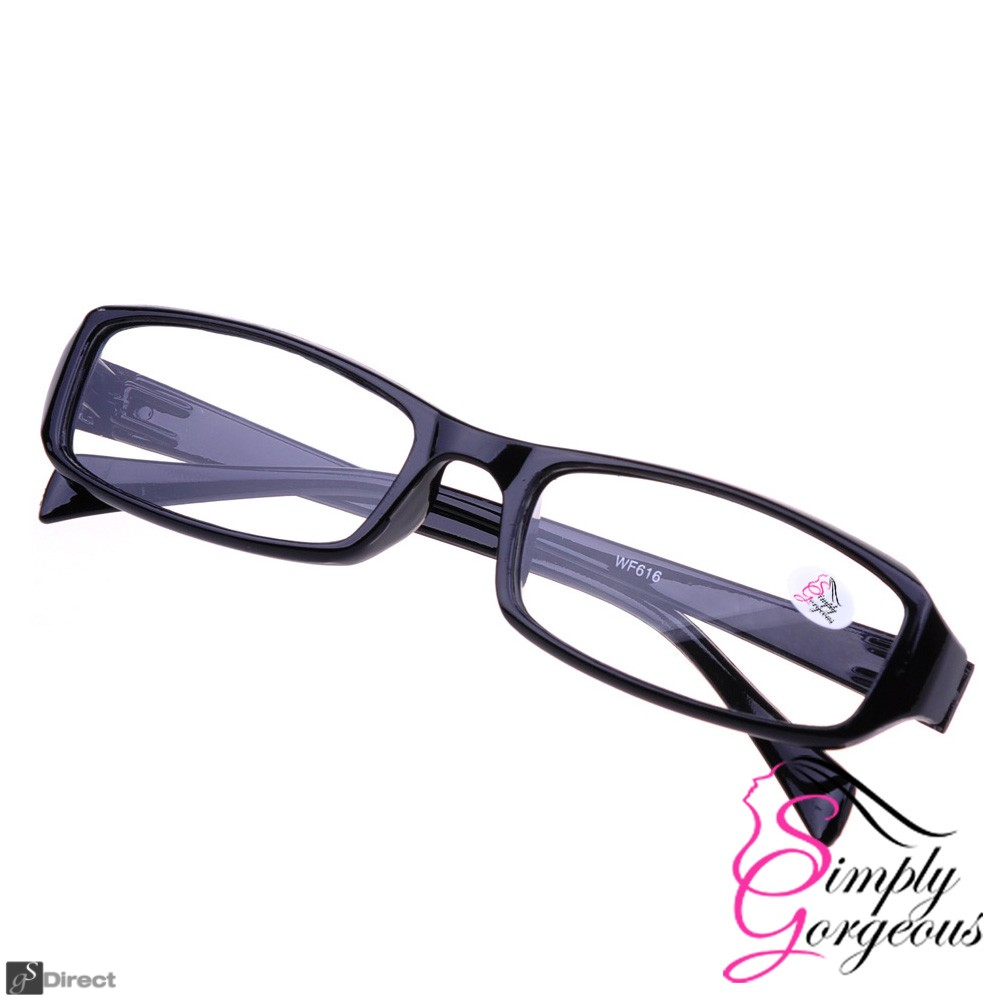 Black Stylish Comfortable Reading Glasses - Strength 3.5