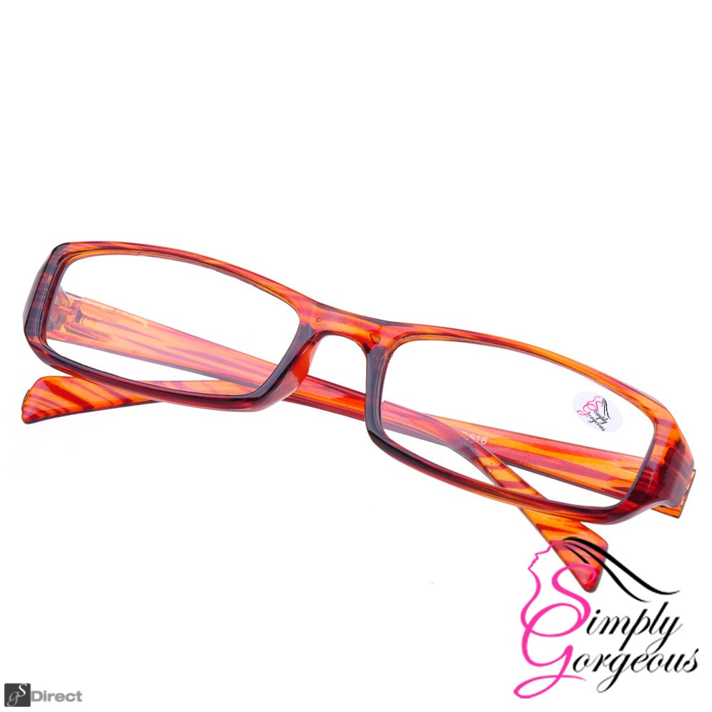 Brown Stylish Comfortable Reading Glasses - Strength 1.0