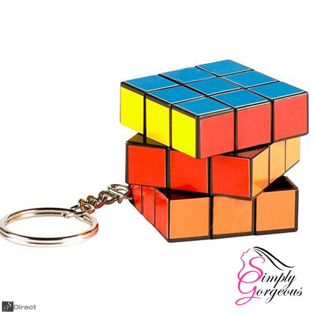 Retro Rubix / Rubik Cube Style Keyring