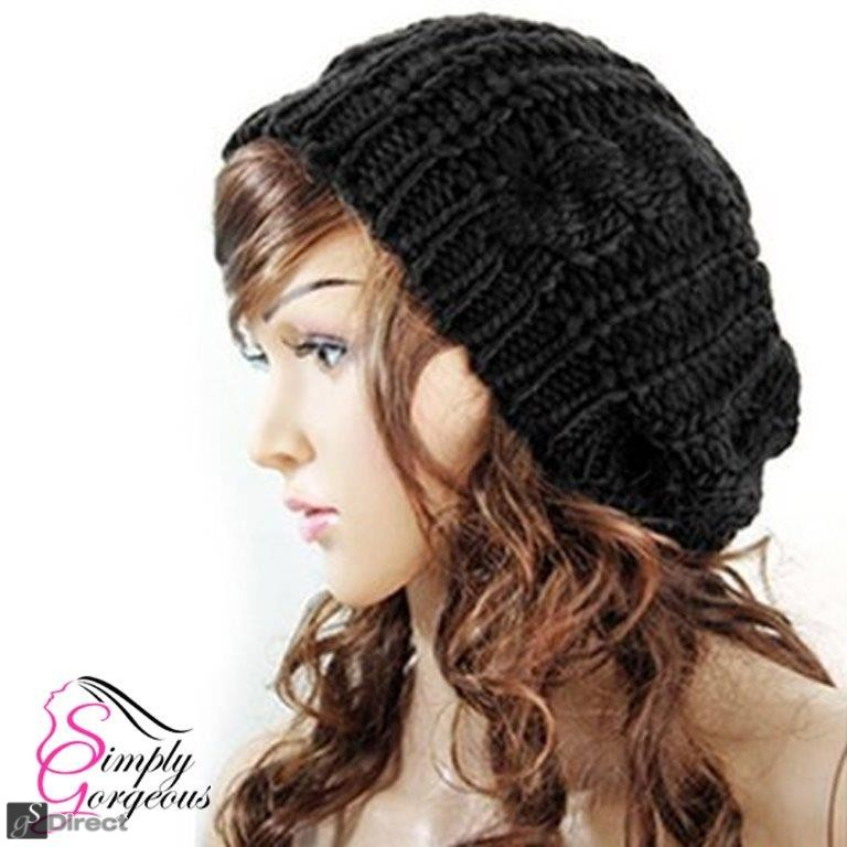 Ladies Stylish Beanie Knitted Hat - Black