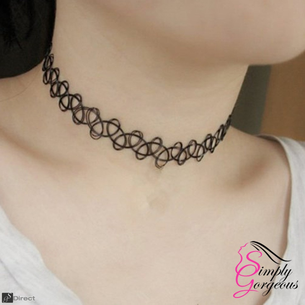 Tattoo Choker Stretch Retro Necklace