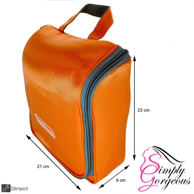 Luxury Hanging Wash Bag - Orange