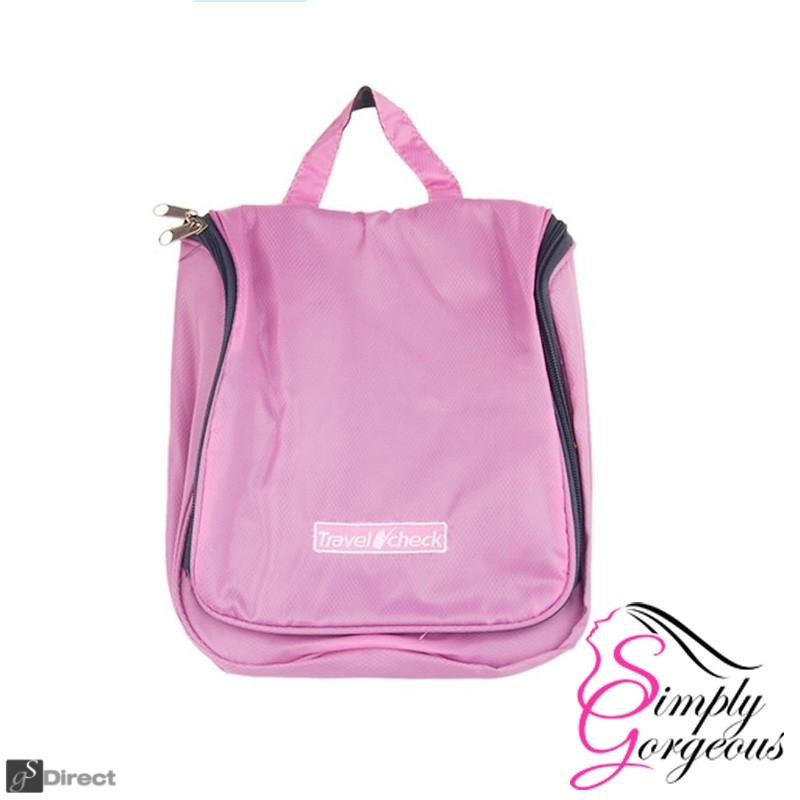 Luxury Hanging Wash Bag - Pink