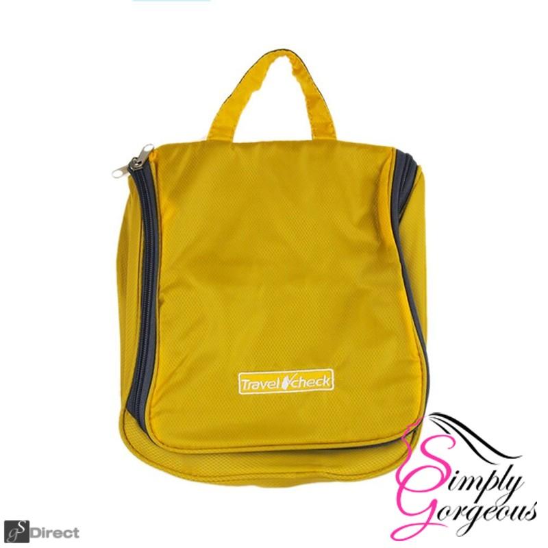 Luxury Hanging Wash Bag - Yellow