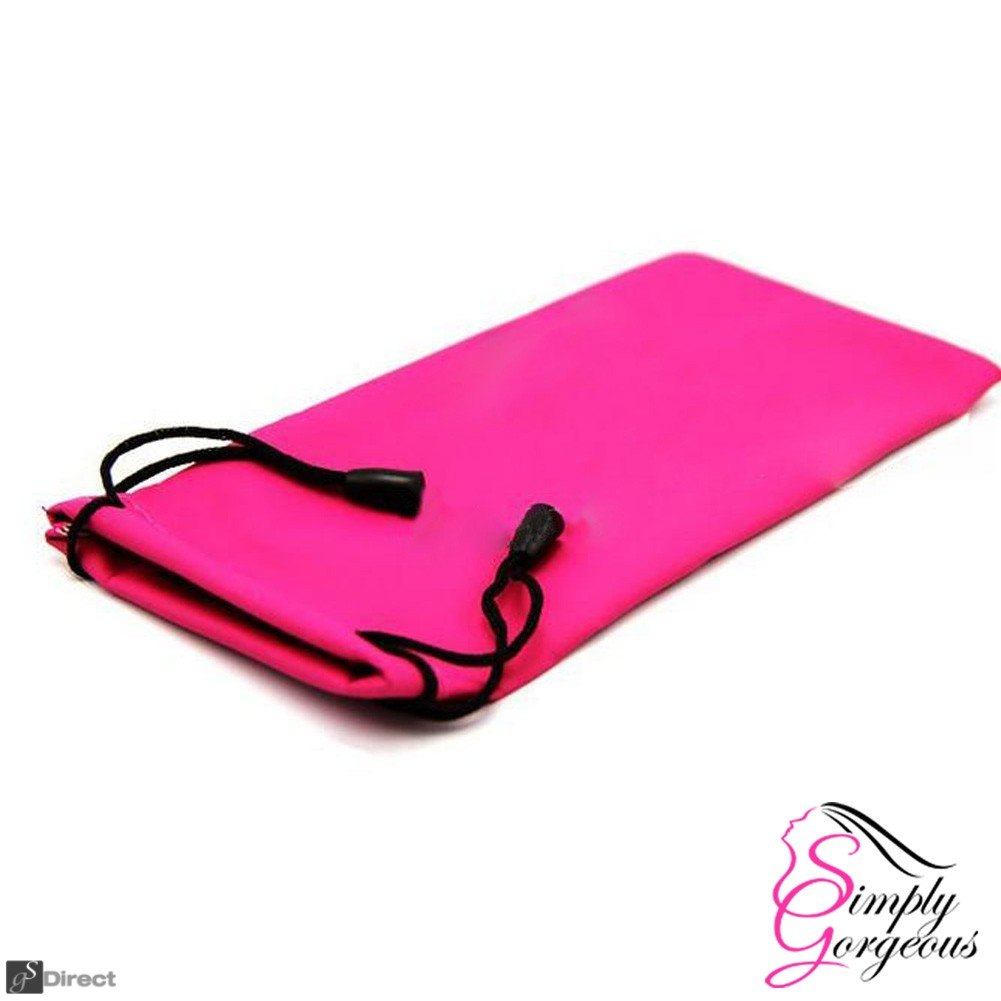 Glasses / Sunglasses Case Drawstring Pouch - Pink