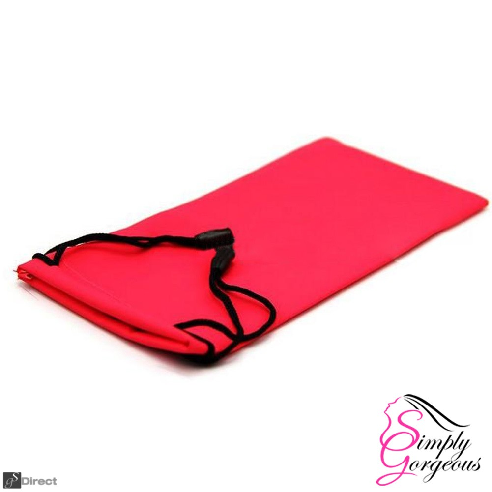 Glasses / Sunglasses Case Drawstring Pouch - Red
