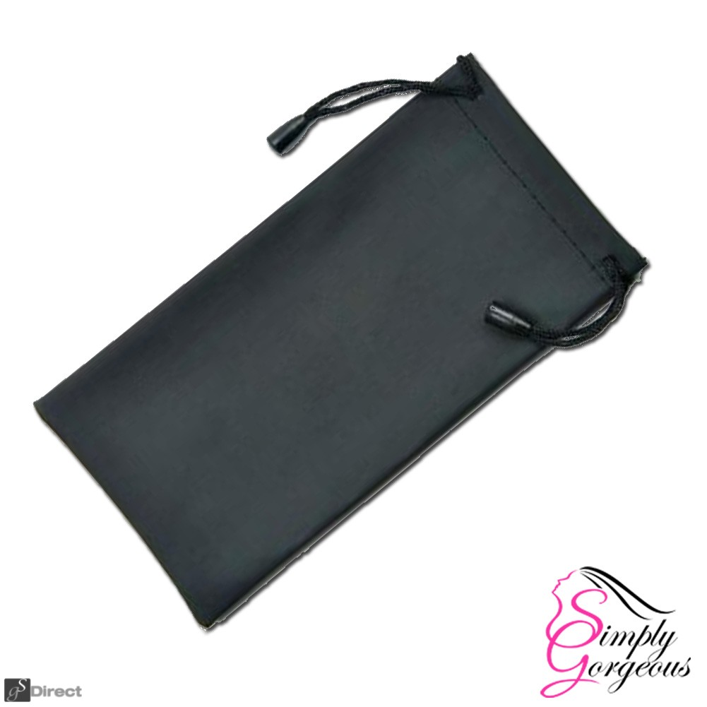 Glasses / Sunglasses Case Drawstring Pouch - Black