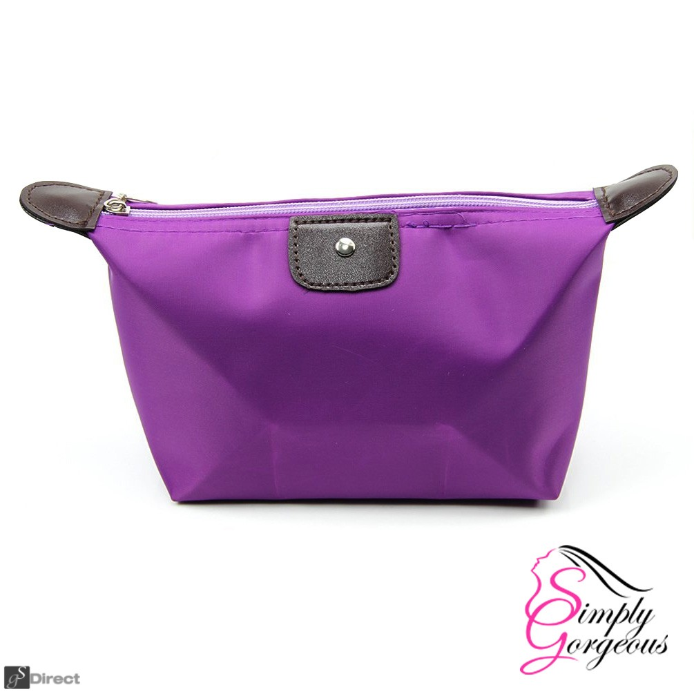 Waterproof Cosmetic Makeup Bag - Purple