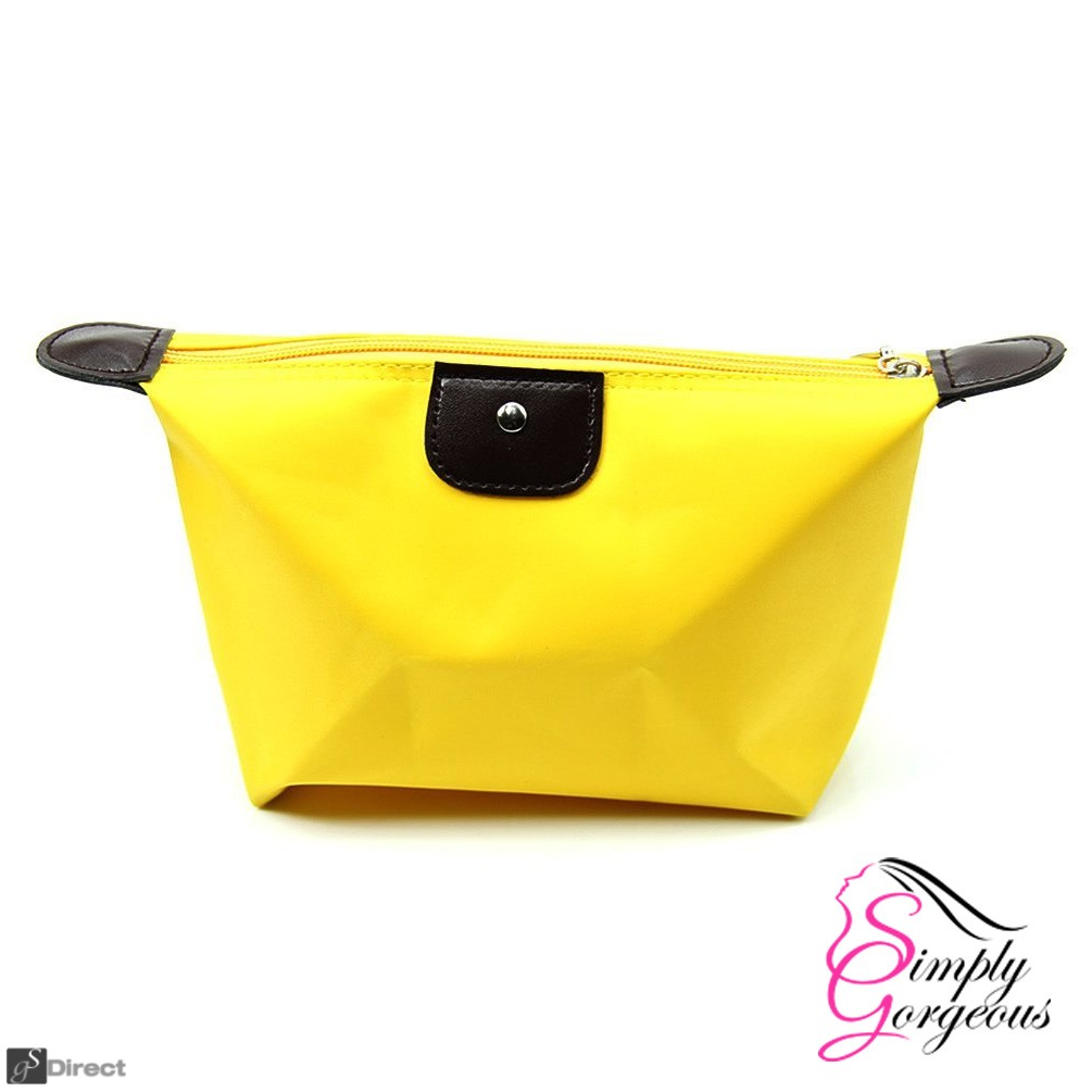 Waterproof Cosmetic Makeup Bag - Yellow