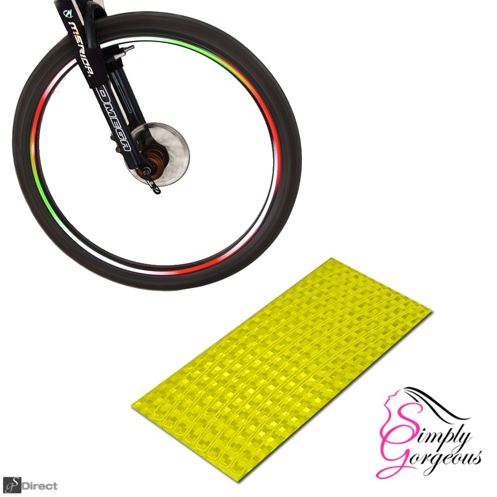Wheel Stickers Reflective Tape - Gold