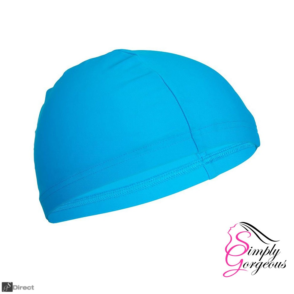 Easy Fit Adult Unisex Swimming Hat Cap - Light Blue