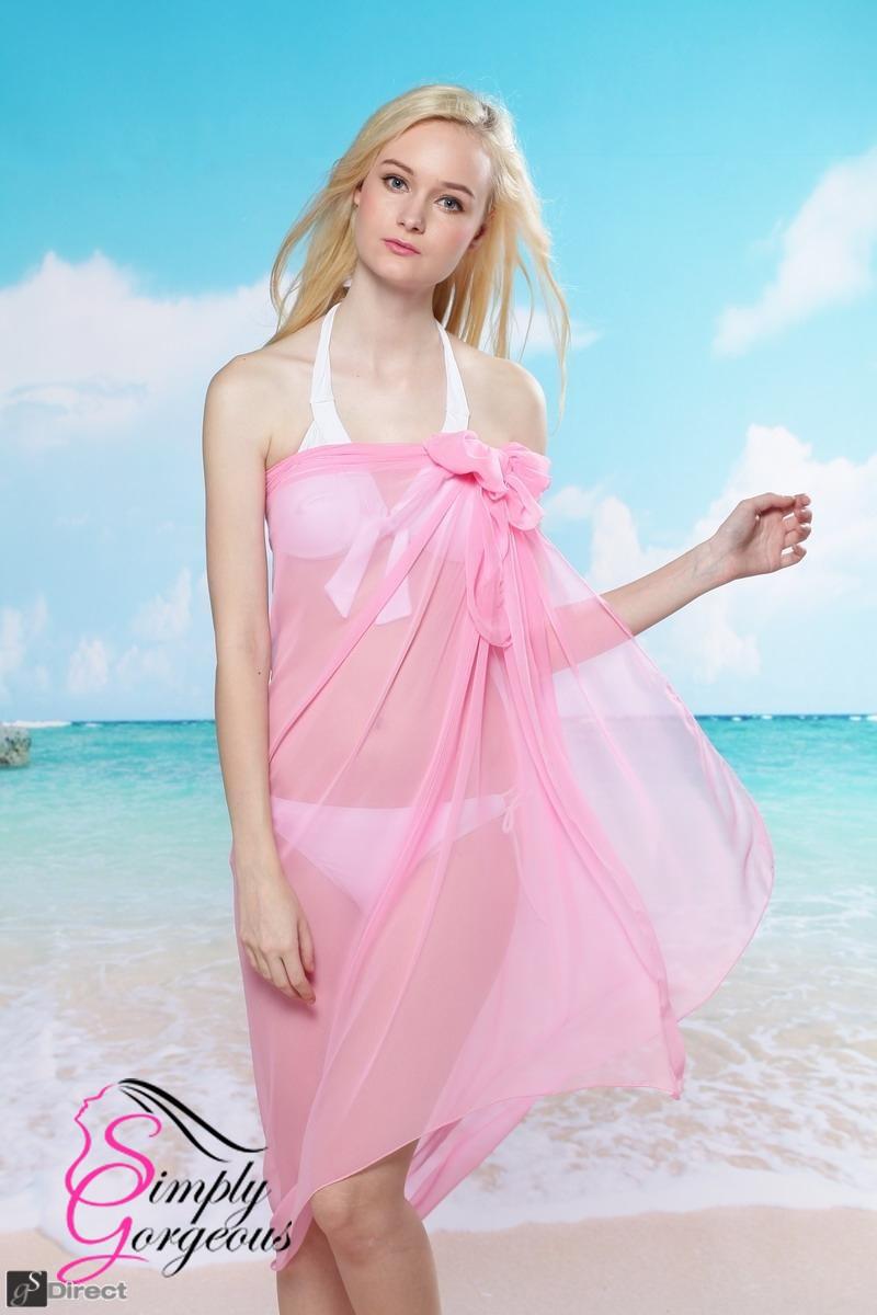 Simply Gorgeous Chiffon Wrap Sarong - Pink