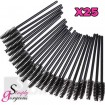 Simply Gorgeous 25 Disposable Eyelash Mini Brush Mascara Wands Applicator