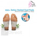 100 X Detox Cleansing Foot Pads Patches