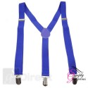 Unisex Adjustable Slim Braces - Blue