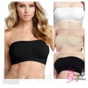 3 Pack of Ladies Sexy Bandeau Strapless Seamless Boob Tube Style Bra - Size XXL (UK Size 16-18)