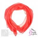 Classic Plain Chiffon Scarf Silk Feel Soft Neck lady Shawl Hijab Scarves - Coral