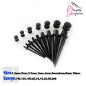 9 Piece Ear Taper Stretchers Kit - Black